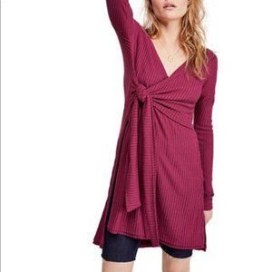 FREE PEOPLE maroon fall for you top✨M